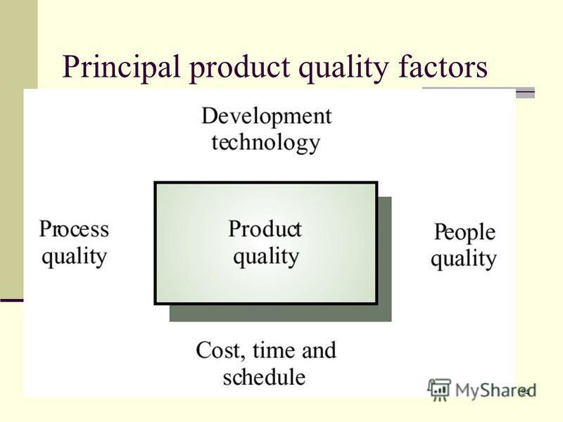 94 Principal product quality factors