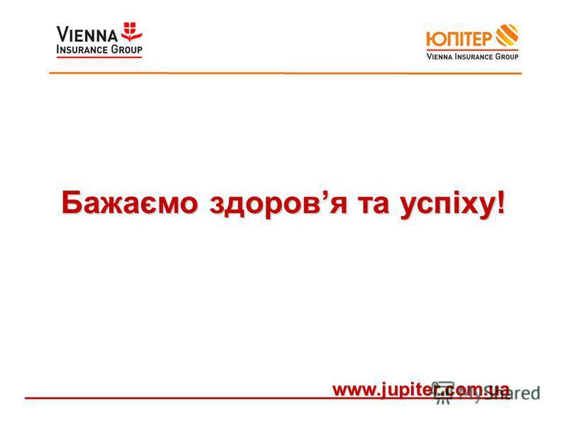 Бажаємо здоровя та успіху! www.jupiter.com.ua www.jupiter.com.ua
