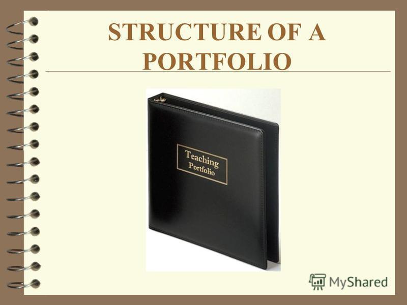 STRUCTURE OF A PORTFOLIO