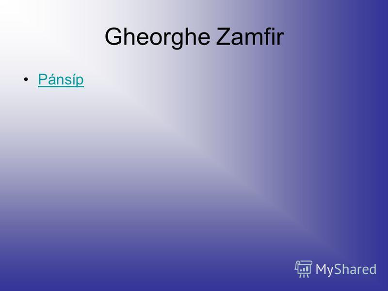 Gheorghe Zamfir Pánsíp