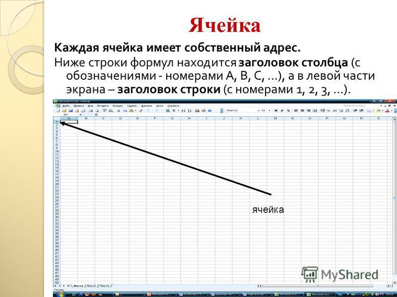 Рабочие листы Рабочая книга состоит из рабочих листов. Рабочий лист состоит из 256 столбцов (от А до IV) и 65 536 строк. рабочие листы