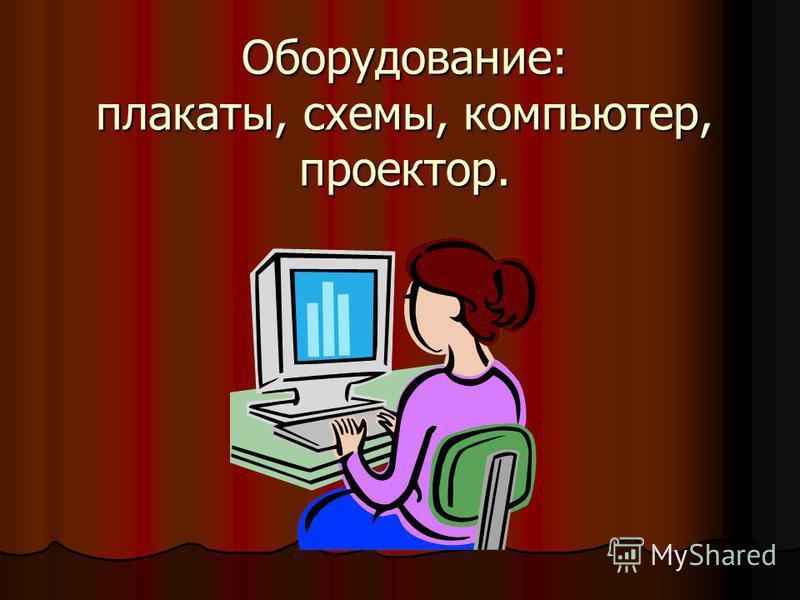 Оборудование: плакаты, схемы, компьютер, проектор.