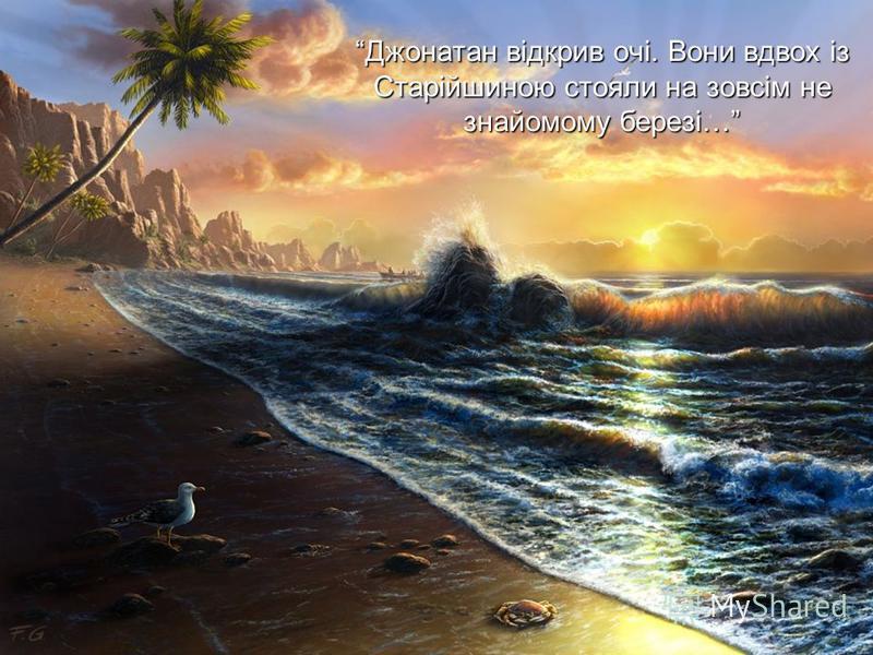 Джонатан відкрив очі. Вони вдвох із Старійшиною стояли на зовсім не знайомому березі…