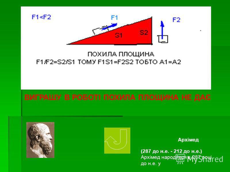ВИГРАШУ В РОБОТІ ВАЖІЛЬ НЕ ДАЄ Архімед (287 до н.е. - 212 до н.е.) Архімед народився в 287 році до н.е. у