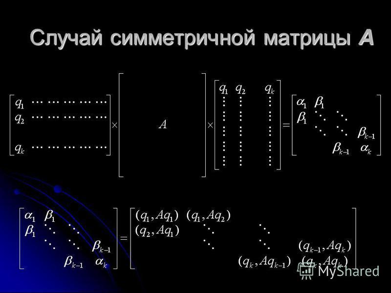Случай симметричной матрицы А
