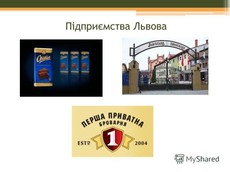 Підприємства Львова