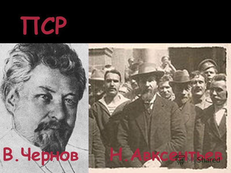 ПСР В.Чернов Н.Авксентьев