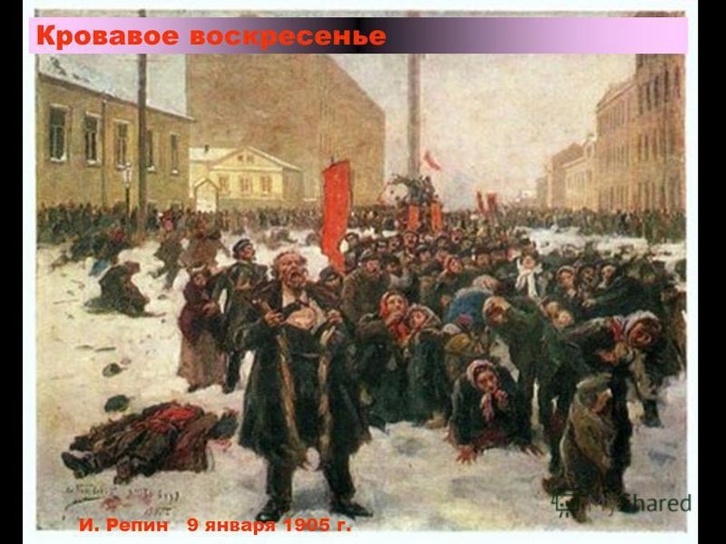 Кровавое воскресенье И. Репин 9 января 1905 г.