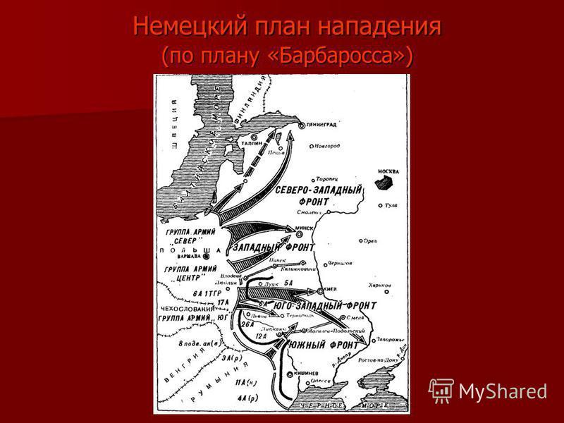 Немецкий план нападения (по плану «Барбаросса»)