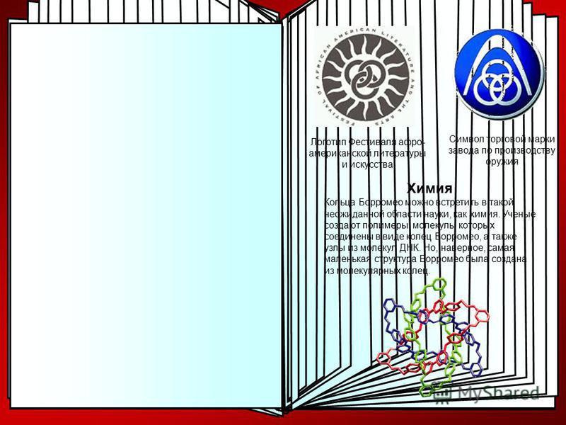 Логотипы В наши дни кольца Борромео можно встретить в различных логотипах. Наиболее известным является логотип пива Баллантайнс (Ballantine). В Северной Америке кольца Борромео известный под названием кольца Баллантайна по названию фирмы из Нью-Джерс