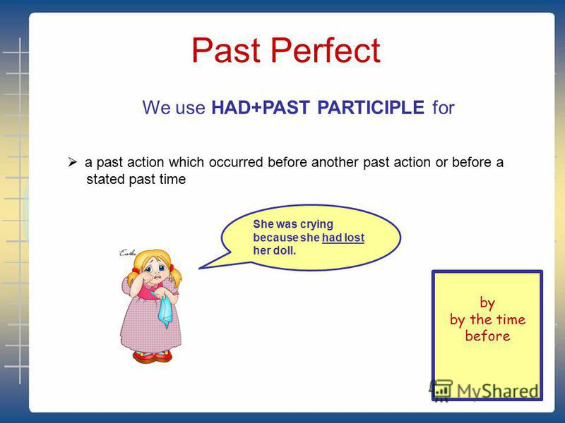 Past Continuous a process at a stated past time They were going to school this time last Monday a past action in progress interrupted by another past action simultaneous actions in the past We use WAS/WERE +V-ING for background descriptions to events