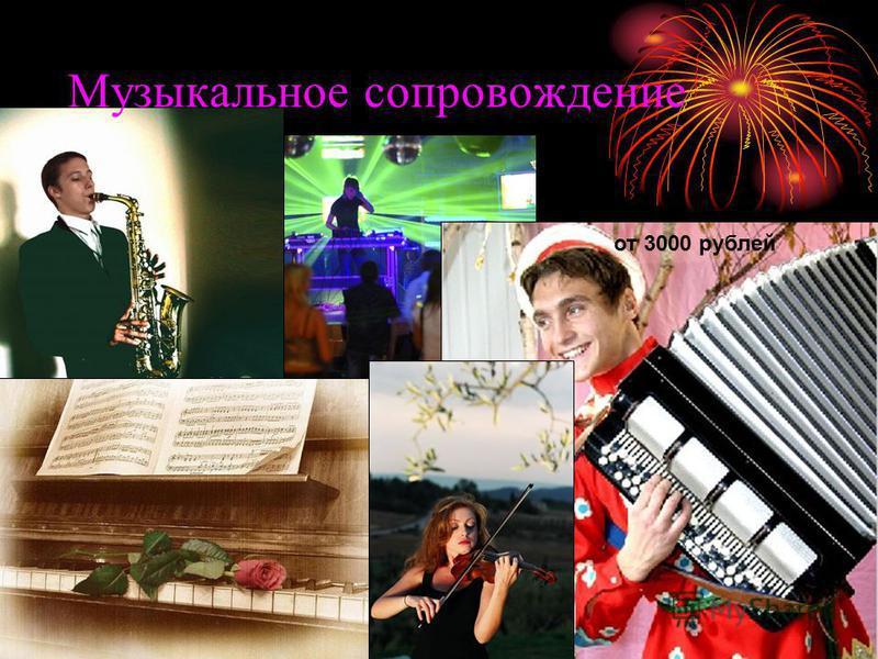 Музыкальное сопровождение от 3000 рублей