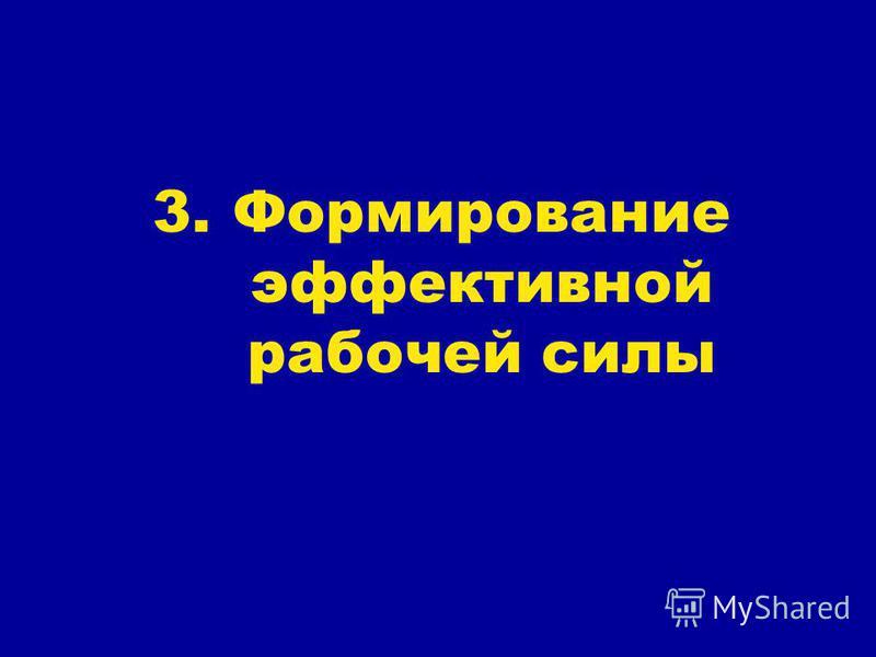 3. Формирование эффективной рабочей силы