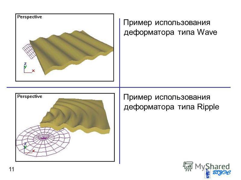 11 Пример использования реформатора типа Wave Пример использования реформатора типа Ripple