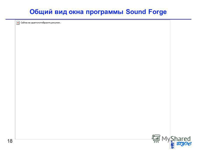 18 Общий вид окна программы Sound Forge