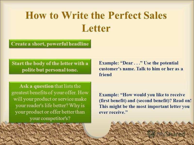 13 how to write the perfect sales letter
