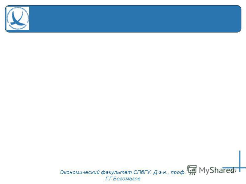 Экономический факультет СПбГУ. Д.э.н., проф. Г.Г.Богомазов 37