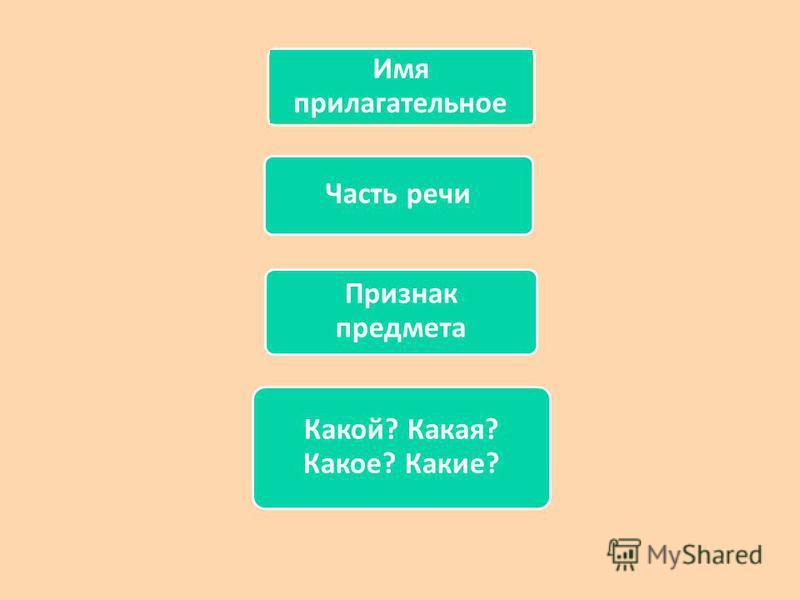 Имя прилагательное Часть речи Признак предмета Какой? Какая? Какое? Какие?
