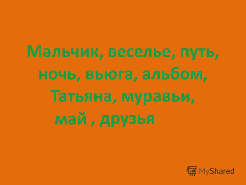 Мальчик, веселье, путь, ночь, вьюга, альбом, Татьяна, муравьи,, друзья май