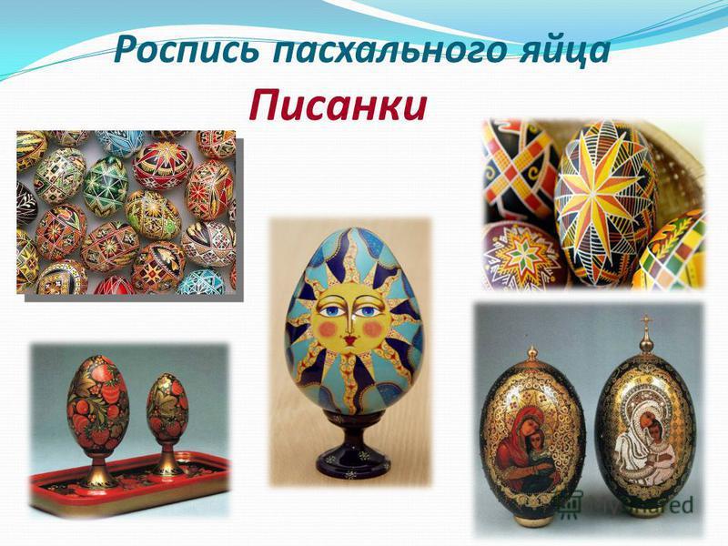 Роспись пасхального яйца Писанки