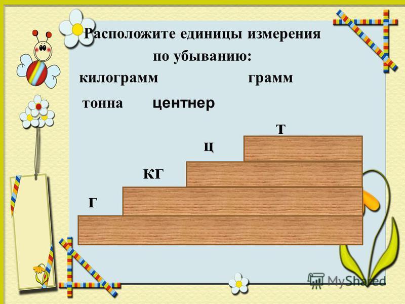 Урок математика 4 класс тонна центнер