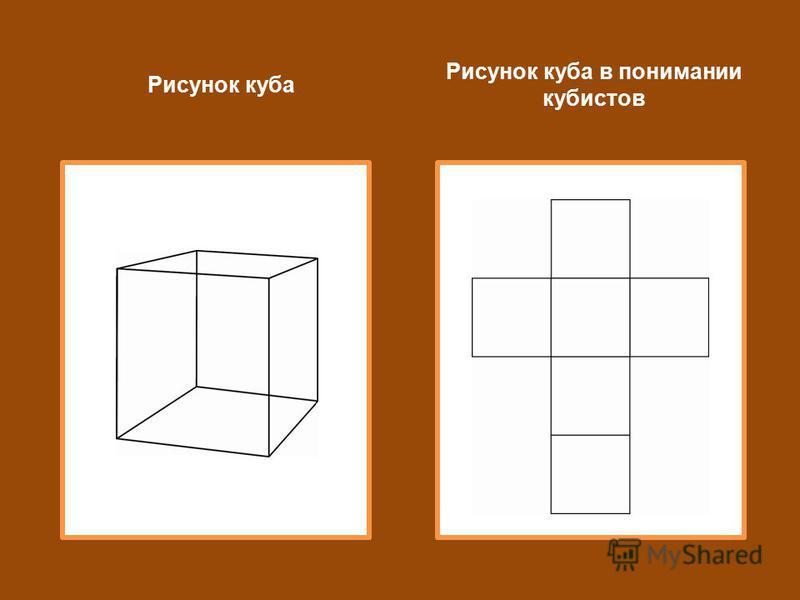 Рисунок куба Рисунок куба в понимании кубистов