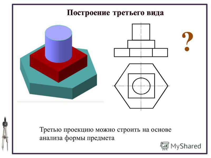 20.08.2015 Третью проекцию можно строить на основе анализа формы предмета ?