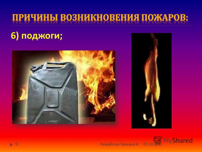 5) грозовые разряды ; 01.10.20118 Разработал Трунов А. И.