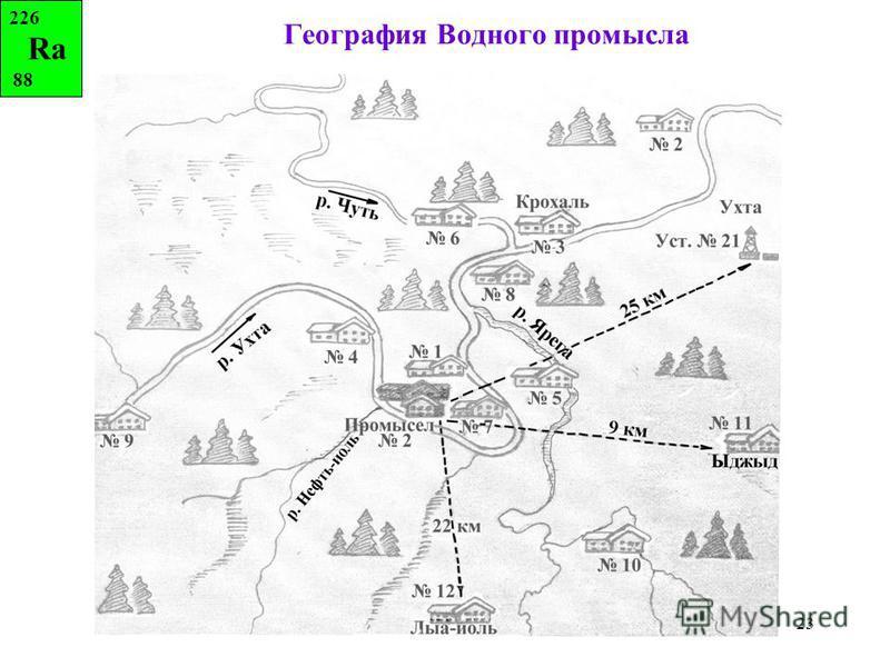 23 География Водного промысла 226 Ra 88