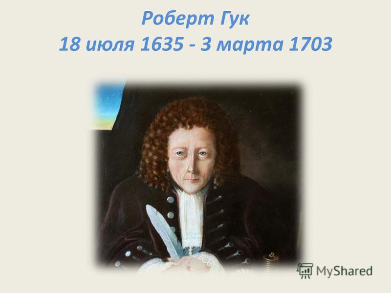 Роберт Гук 18 июля 1635 - 3 марта 1703
