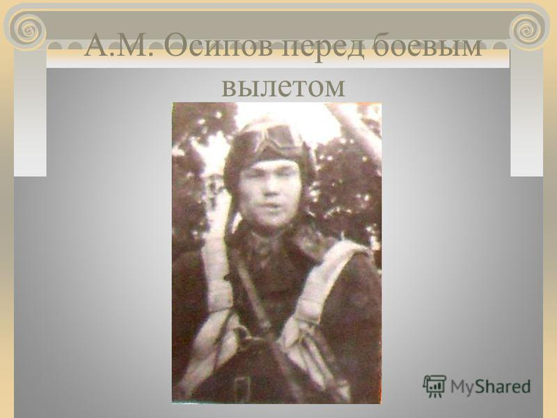 А.М. Осипов перед боевым вылетом