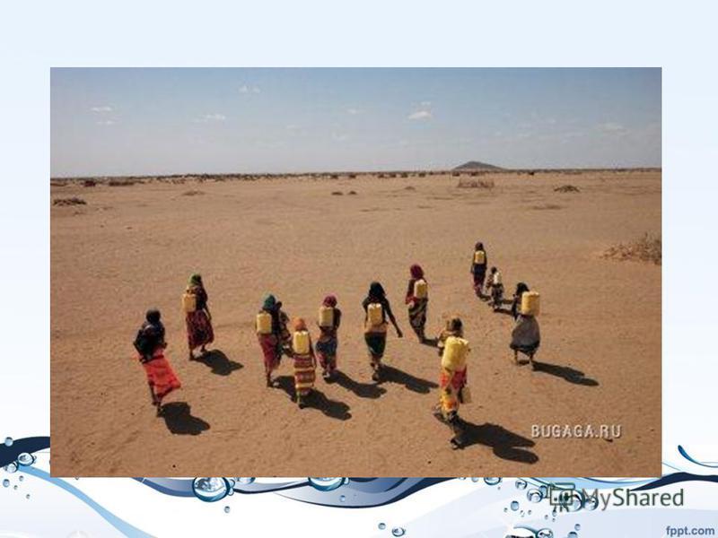 Женщины Габра в северной Кении тратят по пять часов в день, чтобы принести грязную воду из водоема. Затянувшаяся засуха повергла этот и без того неблагоприятный регион в настоящий водный кризис.