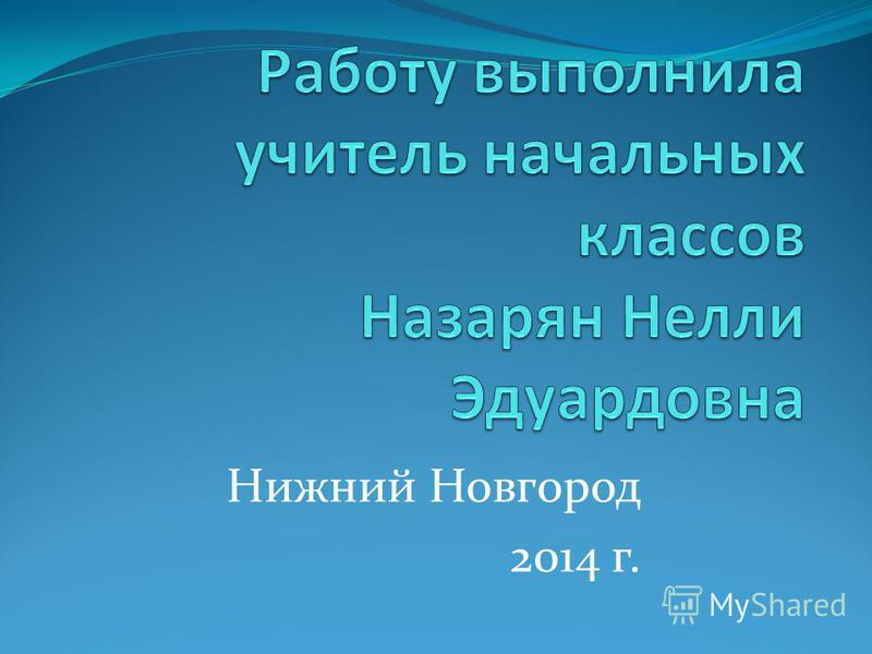 Нижний Новгород 2014 г.