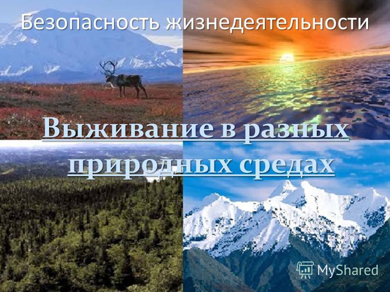 Безопасность жизнедеятельности Выживание в разных природных средах
