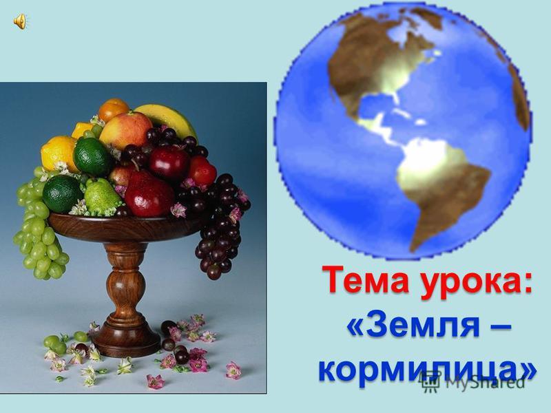 Тема урока: «Земля – кормилица»