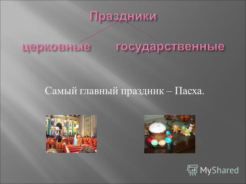 Самый главный праздник – Пасха.