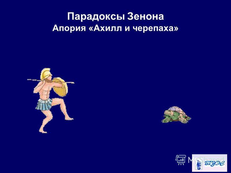 Парадоксы Зенона Апория «Ахилл и черепаха»