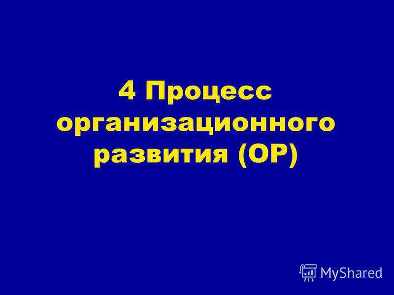 4 Процесс организационного развития (ОР)