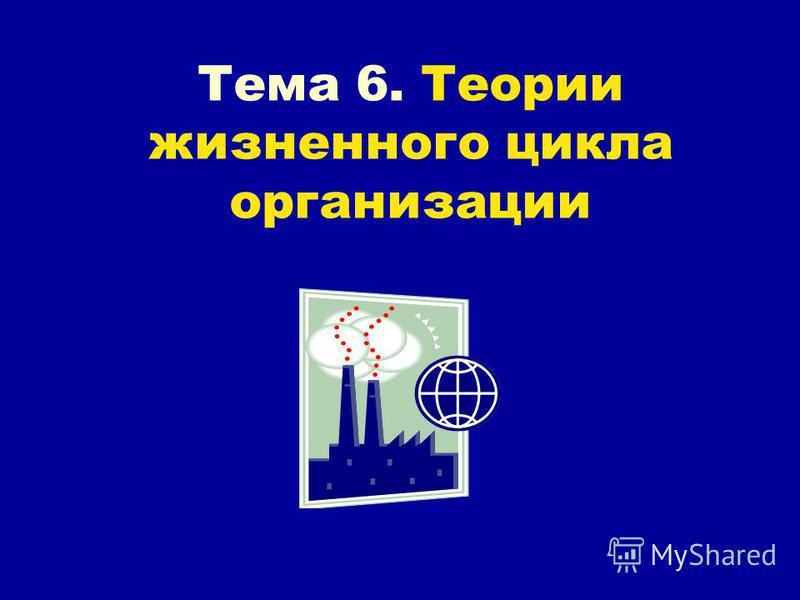 Тема 6. Теории жизненного цикла организации