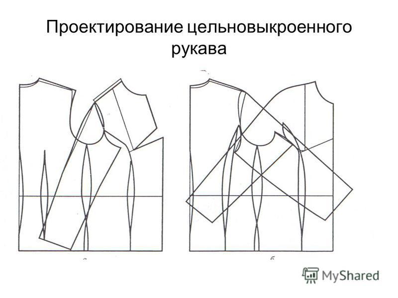 Проектирование цельновыкроенного рукава