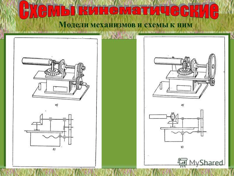 Модели механизмов и схемы к ним