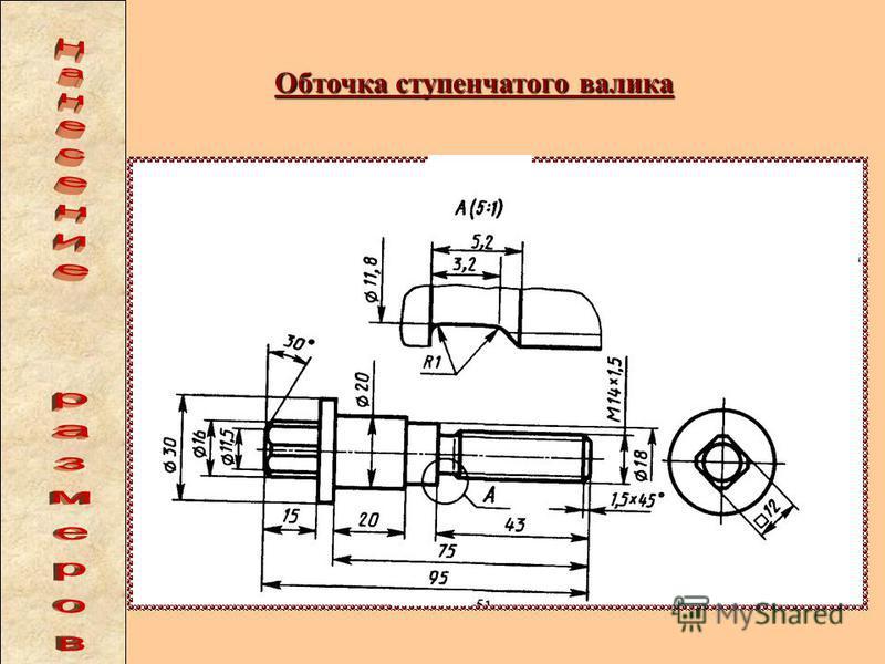 Нарезание внутренней резьбы резцом а) схема размеров; б) расточка внутренних диаметров; в) проточка канавки; г) нарезание резьбы.