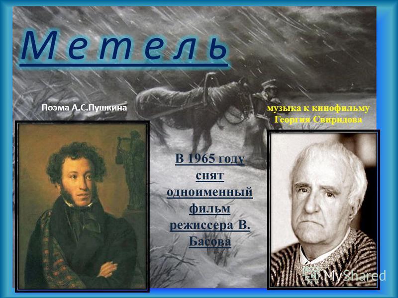 """Презентация на тему: """"образы симфонической музыки «метель."""