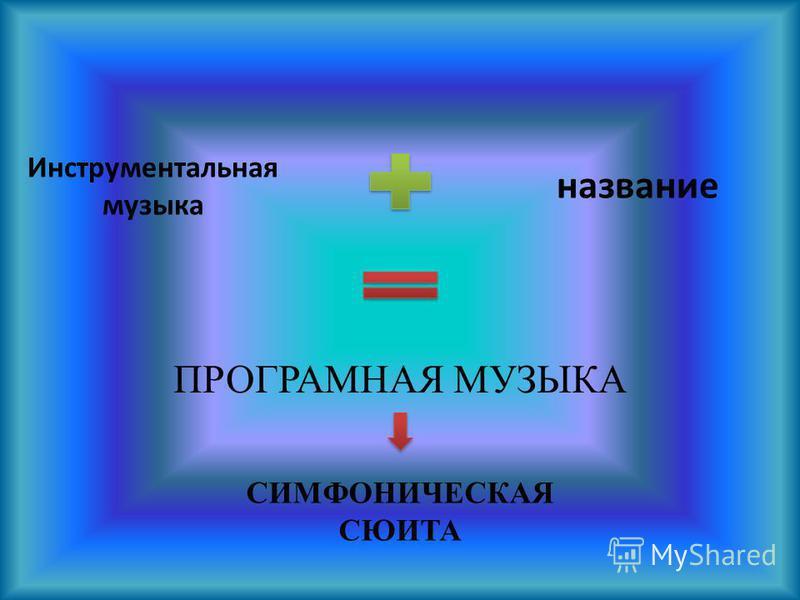 Инструментальная музыка название ПРОГРАМНАЯ МУЗЫКА СИМФОНИЧЕСКАЯ СЮИТА