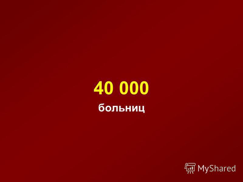 40 000 больниц