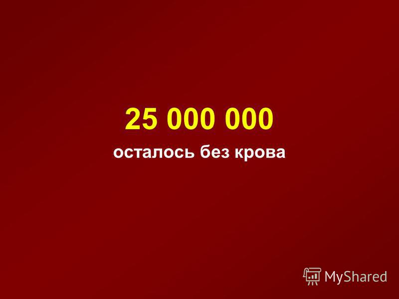 25 000 000 осталось без крова