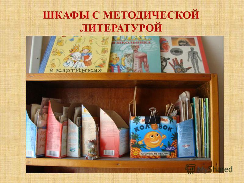 ШКАФЫ С МЕТОДИЧЕСКОЙ ЛИТЕРАТУРОЙ