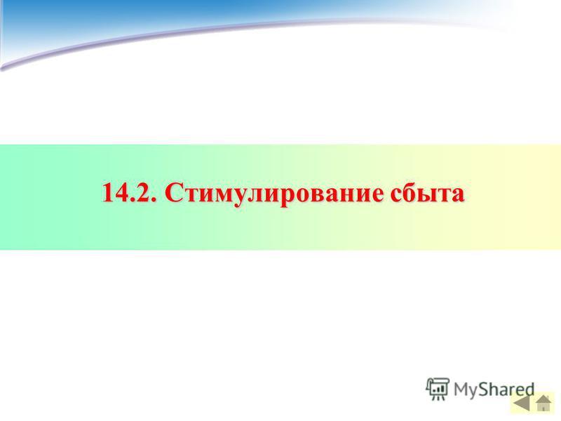 14.2. Стимулирование сбыта