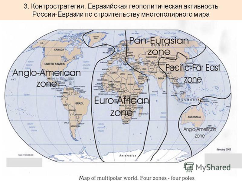 3. Контростратегия. Евразийская геополитическая активность России-Евразии по строительству многополярного мира
