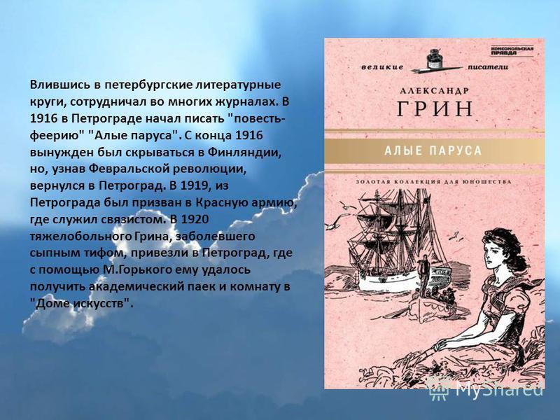 Влившись в петербургские литературные круги, сотрудничал во многих журналах. В 1916 в Петрограде начал писать